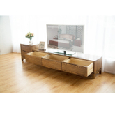 Living Room Furniture Tv Stand Antique Style with Solid Oak Wood